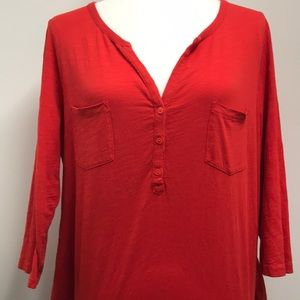 Boden 3/4 Sleeve Double Pocket Tee Size Large